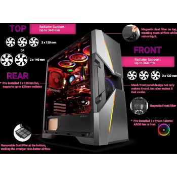 Antec Dark Avenger Gaming Case DA601