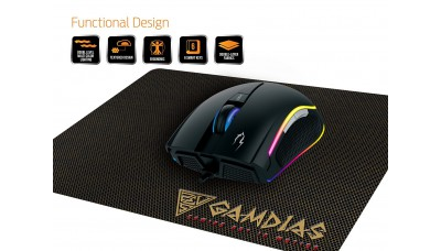 GAMDIAS Gaming Mouse And Gaming Mouse Mat